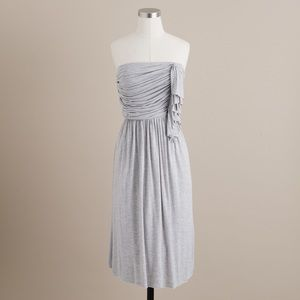 J.Crew Gray Ruffle Cascade Dress 6